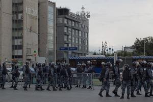 Митинг полиции: Как силовики подавляли акцию на Бульварном кольце