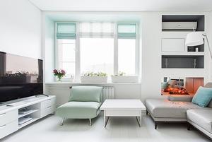 Пятикомнатная квартира в белых тонах на Мосфильмовской
