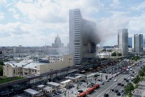 Пожар в «доме-книжке» на Новом Арбате