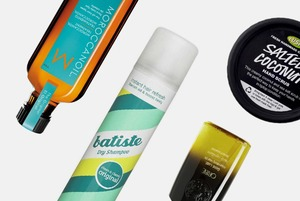 Масла для тела и волос, сухие шампуни, скрабы и другие средства для ухода за собой