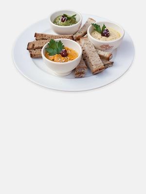 Мятный, тыквенный и классический хумус