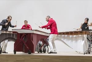 Игра на маримбах, конное шоу и Баста
