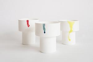 Чашки в виде стаканчиков с советским пломбиром, сделанные вручную на Урале