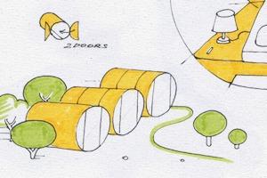 Идеи для города: Гостиница из бетонных труб