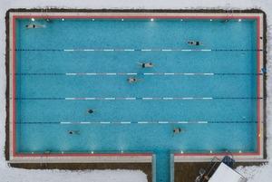Вид сверху: Открытые бассейны Москвы зимой