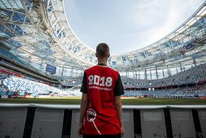 Подающие мячи и флагоносцы на Чемпионате мира по футболу FIFA 2018