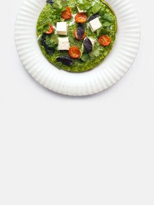 Кюкю — азербайджанский омлет с сыром и шпинатом