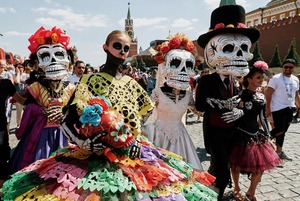 Карнавала нет: Праздник мертвых на Красной площади отменили
