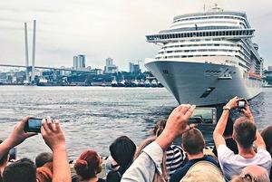 Круизный лайнер MSC Splendida  в инстаграмах владивостокцев