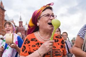 Шествие бабушек на Тверской