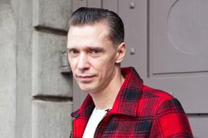 Внешний вид: Олег Гитаркин, фронтмен Messer Chups