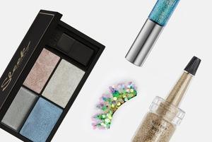 Блестки, наклейки и русалочьи ресницы для праздничного макияжа