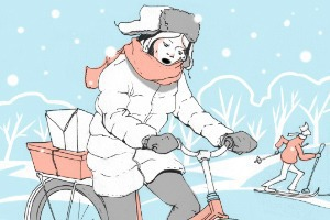 Личный опыт: Как ездить на велосипеде зимой?