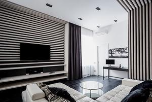 Квартира для Романа в чёрно-белых тонах