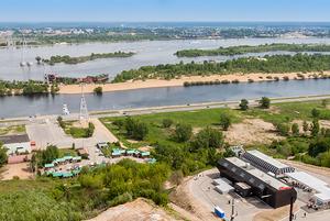 Маршрут от Чкаловской лестницы до канатной дороги / Route from Chkalov Stairs to Nizhny Novgorod Cableway