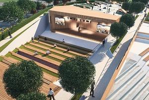 Площадки для воркаута и фонтан: Как будет выглядеть новое общественное пространство у «Меги»