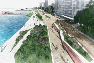 Песчаный пляж, каналы и театр: Как будет выглядеть набережная ВИЗа