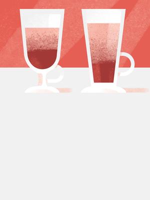 Почему латте наливают в стеклянный стакан?