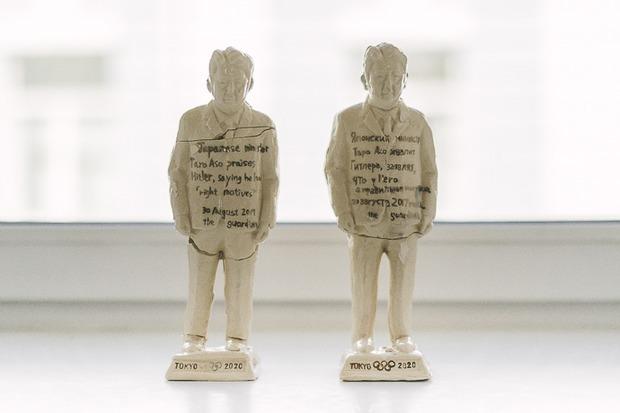 Биеннале во Владивостоке: Атлеты с лицом Синдзо Абэ, яблоко раздора и 5 000 чаш на батарее