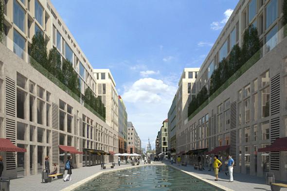 План застройки проекта «Влесу» подразумевает большое количество коммерческих площадей напервых этажах. Основная цель— сделать микрогород комфортным идоступным для пешеходов. Изображение № 6.