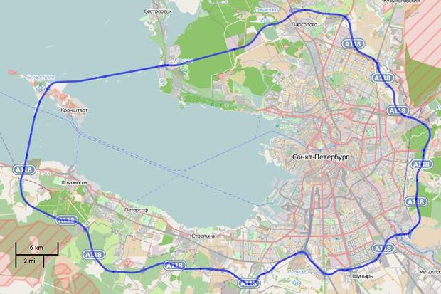 Кольцевая автодорога Санкт-Петербурга A-118. Изображение № 1.