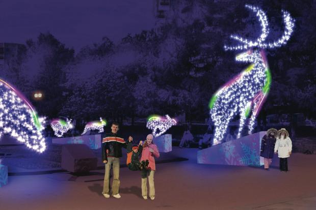 Великие луки: Как украсят Москву к Новому году. Изображение № 62.