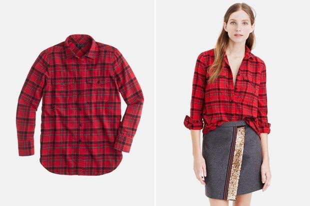 Где купить женскую рубашку вклетку: 9вариантов от одной до семи тысяч рублей. Изображение № 10.