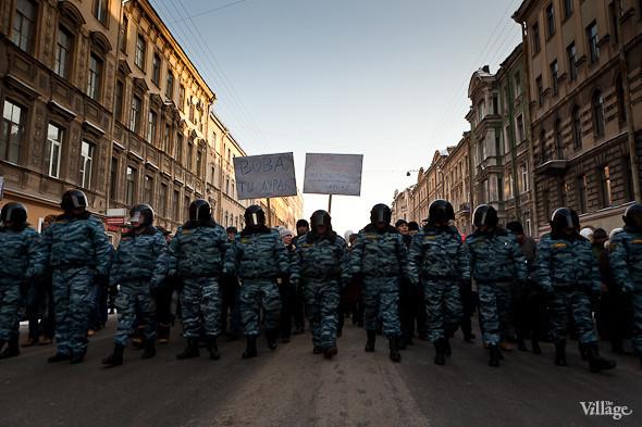 Фоторепортаж: Шествие за честные выборы в Петербурге. Изображение № 12.