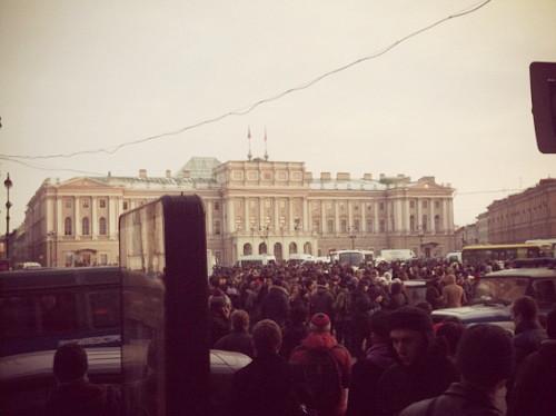Онлайн-трансляция: Митинги в Москве и Петербурге. Изображение № 27.