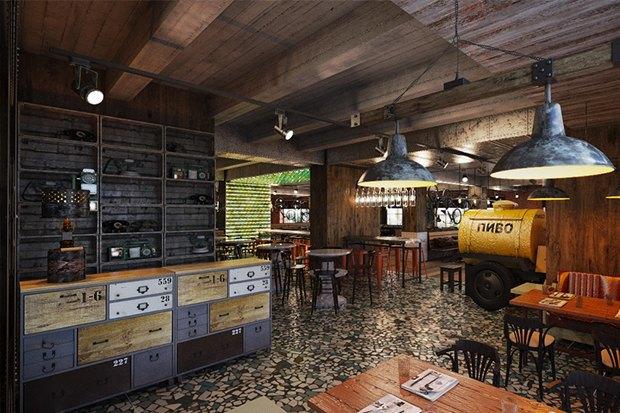 Ресторан Chicha, магазин скрафтовым пивом TheVatagaExpress, кафе «Хачапури» и«Пянсё». Изображение № 3.
