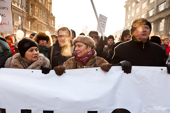 Фоторепортаж: Шествие за честные выборы в Петербурге. Изображение № 22.