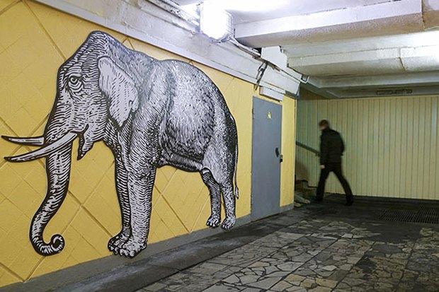 Московскому зоопарку разработали праздничный фирстиль. Изображение № 6.