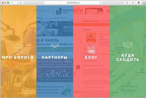 Ресторанный критик Борис представил собственную гастрономическую карту Петербурга . Изображение № 1.