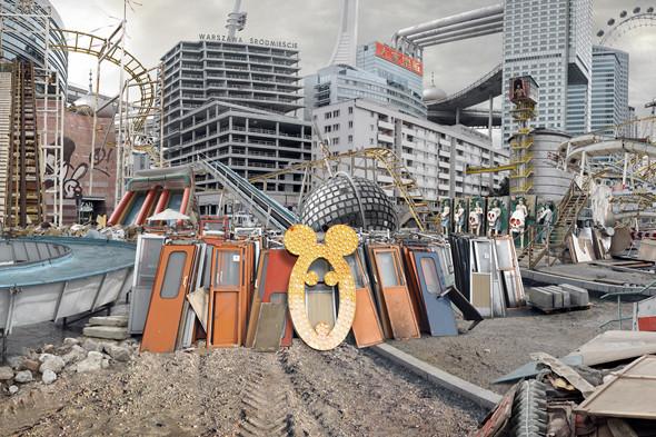 Кобас Лакса. Roller Coaster Warsaw. Интерактивная панорама, планшет, фотомонтаж. Варшава, 2010.. Изображение № 4.