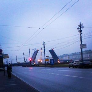 Дворцовый мост впервые развели на все выходные. Изображение № 3.