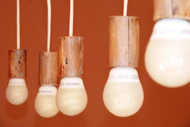 Своими руками: Сделать лампу из коряги. Изображение № 2.