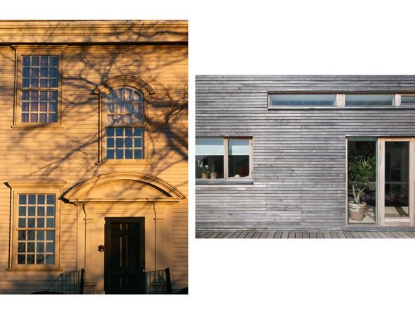 1. Хантер-хаус, Ньюпорт, США, 1748. Фото: Уилл Прайс  2. Вилла Rahoj Alle, Хёйбьерг, Дания. Архитекторы: C.F.Moller Architects, 2005 Фото: Julian Weyer