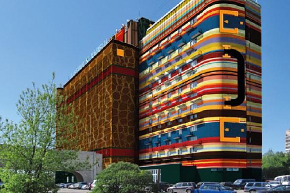 Предварительный эскиз проекта покраски гостиницы. Изображение № 5.