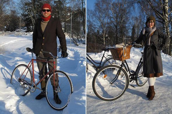Helsinki Winter Tweed Run. Photo: Martti Tulenheimo. Луки, выложенные в блоге велоактивистов в Хельсинки