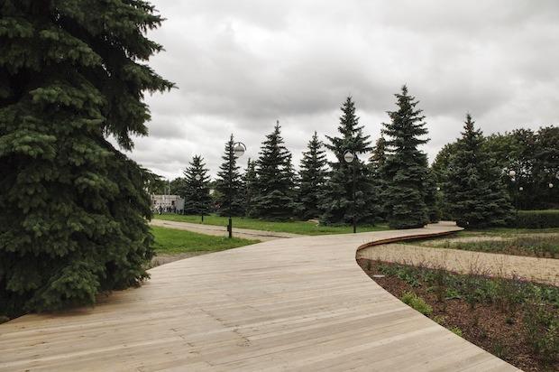 В парке «Музеон» построят деревянную лестницу для отдыха. Изображение № 4.