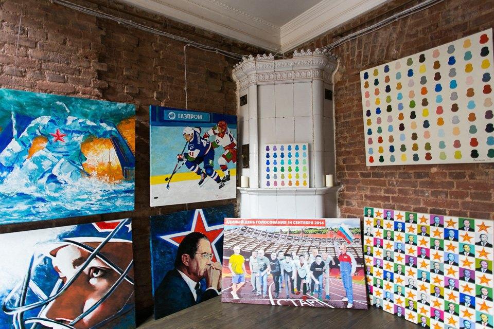 Квартира художника смансардой. Изображение № 20.