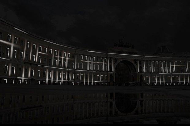 На ночь глядя: 12 проектов подсветки Главного штаба. Изображение № 40.