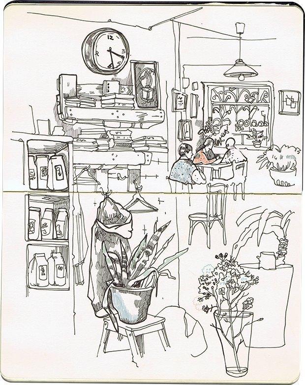 Клуб рисовальщиков: Кофейня LES. Изображение № 5.