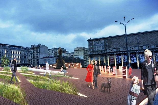 Wowhaus разработали проекты реконструкции московских площадей. Изображение № 6.