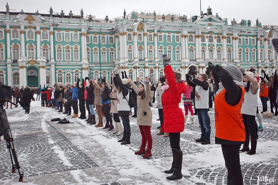 Фоторепортаж: Gangnam Style и зарядка на Дворцовой площади. Изображение № 2.