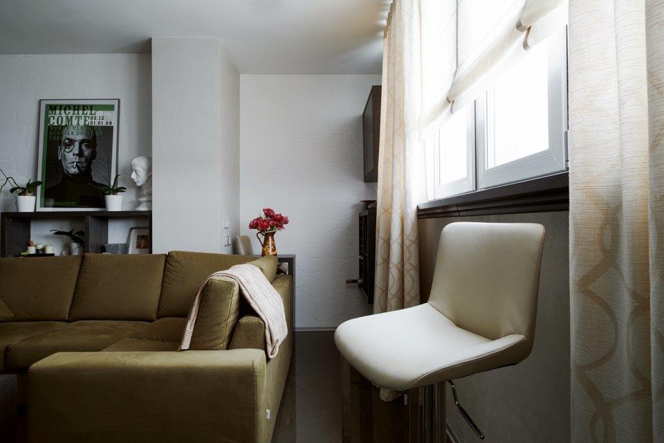 Трёхкомнатная квартира сэклектичным интерьером. Изображение № 9.