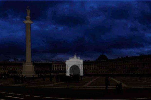 На ночь глядя: 12 проектов подсветки Главного штаба. Изображение № 65.