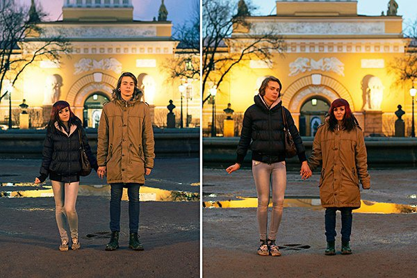 В Петербурге сняли аналог фотопроекта Switcharoo. Изображение № 2.