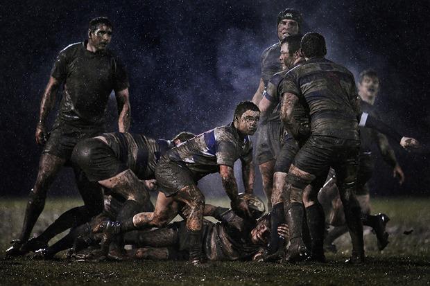 Рэй Макманус, Ирландия. Матч по регби в дождливую погоду. Изображение № 15.