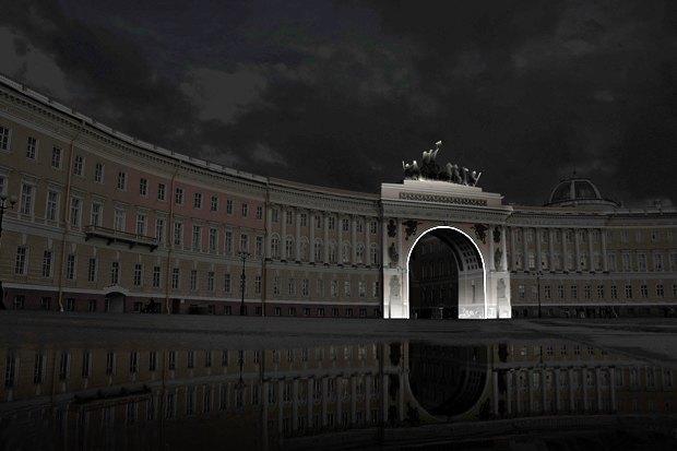 На ночь глядя: 12 проектов подсветки Главного штаба. Изображение № 59.